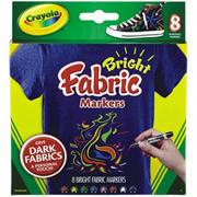 Crayola Brights Fabric Markers (pack of 8)