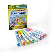 Crayola Crystal Effects Window Markers (box of 8)