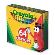 Crayola� Regular Size Crayons  (box of 64)