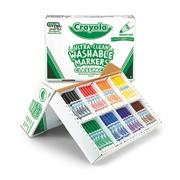 Crayola Classpack Washable Markers, 8 Colors  (box of 200)