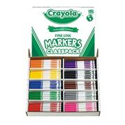 Crayola Classpack Markers - 10 Colors, Fine Tip  (box of 200)