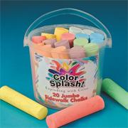 Color Splash! Sidewalk Chalk Bucket  (bucket of 20)