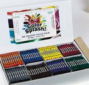 Color Splash! Crayons - 8 Colors  (box of 800)