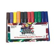 Color Splash! Permanent Markers  (pack of 12)