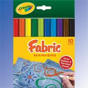 Crayola� Fabric Markers  (pack of 10)