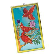 "Sun Catcher 6""x11"" - Cardinals"