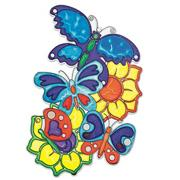 "Sun Catcher 6-1/2""x10"" - Butterflies"