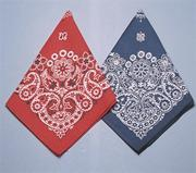 Bandanas - Red/Blue Western  (pack of 12)