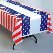 Patriotic Pleated Table Cover  (pack of 6)