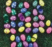 "2-3/8"" Printed Easter Eggs  (pack of 7)"