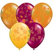 "11"" Autumn Leaves Latex Balloons  (pack of 100)"