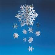 3-D Snowflake Mobile