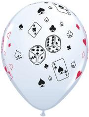 Casino Designed Balloons (pack of 100)