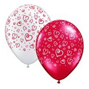 Swirling Hearts Balloon  (pack of 100)