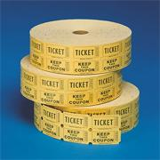 Double Roll Tickets , Yellow (roll of 2000)