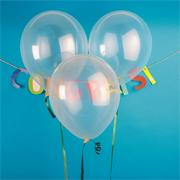 "11"" Jeweltone Balloons , Diamond Clear (pack of 100)"