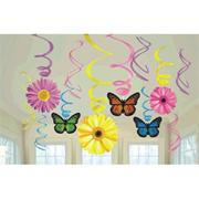 SPRING HANGING SWIRL DECORATION PK12