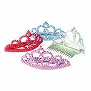 Multicolored Tiara Combs (pack of 12)