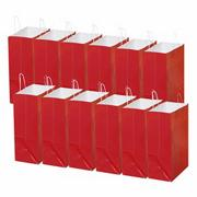 Laminated Large Gift Bags, Red