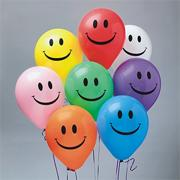 11&quot; Smile Balloons, Assorted Colors  (bag of 100)