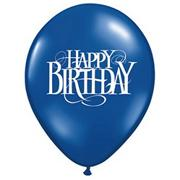 11&quot; Happy Birthday Superscript Balloon  (bag of 100)
