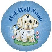 Get Well Puppy Mylar Balloon  (pack of 10)
