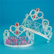 'Happy Birthday' Tiara  (pack of 12)