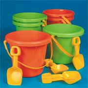 10&quot; Jumbo Poly Pails  (pack of 6)