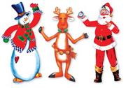 Hinged Christmas Figures  (pack of 6)