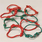 Christmas Friendship Bracelets (pack of 48)