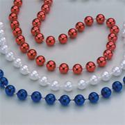 33&quot; Patriotic Bead Necklaces (pack of 36)