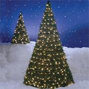 Pull-Up Christmas Tree w/ Lights, 6'