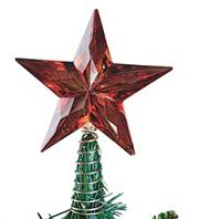 Red Acrylic Star Tree Topper  (pack of 3)