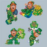 St. Patrick&#039;s Day Leprechaun Cutouts  (pack of 4)