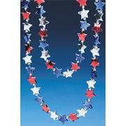 Red, White, and Blue Star Bead Necklace  (pack of 12)