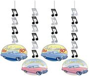 Fabulous 50s Hanging Cutouts (pack of 4)