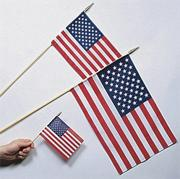 "12"" x 18"" Cotton US Flags  (pack of 12)"