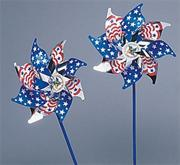 "7"" Deluxe Stars and Stripes Pinwheels  (pack of 24)"