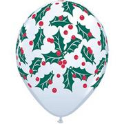 Holly Berry Latex Balloons (pack of 50)