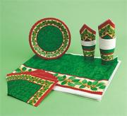 Holly Christmas Tabletop Setting for 12 (pack of 12)