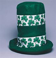 Shamrock Stovepipe Hat  (pack of 2)