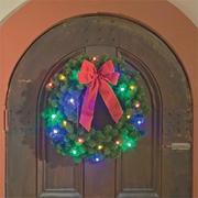 Wreath with Multicolor LED Lights