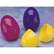 "3-1/2"" Split Plastic Eggs  (pack of 72)"
