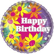 Birthday Flowers Balloon  (pack of 10)