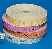Blank Tickets - Assorted Colors (roll of 2000)