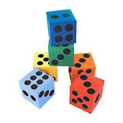 Foam Dice, 1-1/2&quot; (dozen)