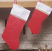 "Large 16"" Plush Stocking  (pack of 12)"