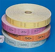 Single Roll Tickets - 25 Cents  (roll of 2000)