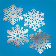 "15"" Silver Foil Snowflakes  (pack of 24)"