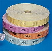 Single Roll Tickets - 50 Cents  (roll of 2000)